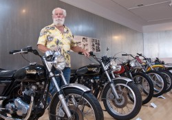 Me with some of the British bikes