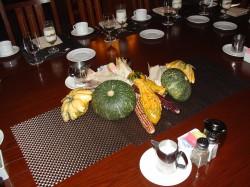 The centerpiece bespeaks autumn at the Asilomar Autumn Foodie Camp Oct., 2012