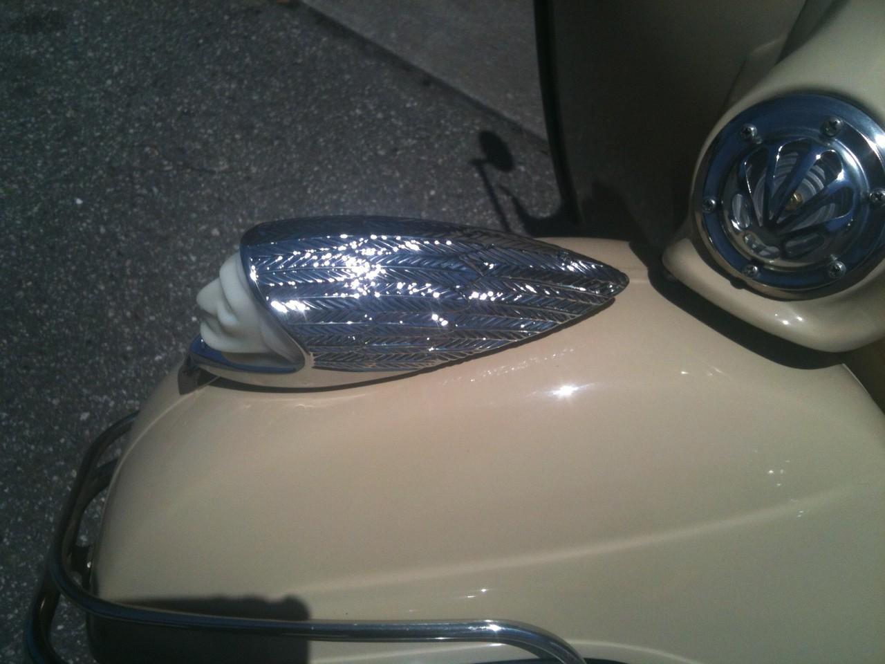 The Indian light on my 66 Vespa