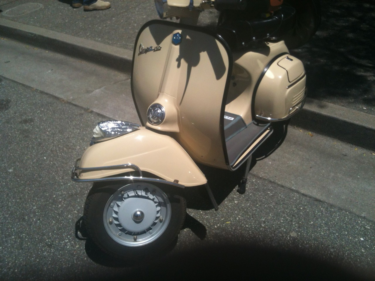 Ha ha! The perfect thing for a Vespa!