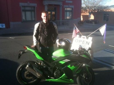 Peter and his Kawasai Ninja 300