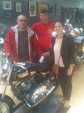 Erick, son-in-law and daughter with the Norton