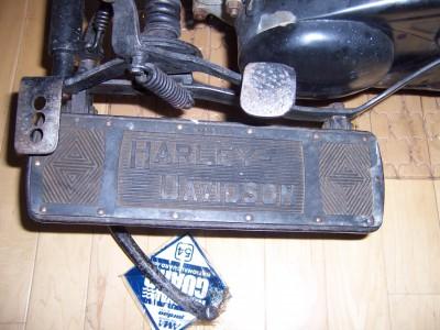 1930 H-D footboard